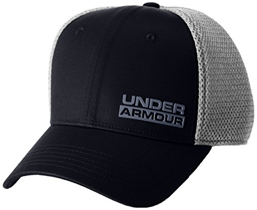 Under Armour Herren Eagle Cap Upd Kappe, Black/Aluminum/Rhino Gray (001), L/XL (Fitness-studio-baseball-cap)