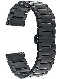 TRUMiRR 22mm venda de reloj de pulsera de acero inoxidable Correa para Samsung Gear S3 Classic/Frontier,Gear 2 R380 R381 R382,Moto 2 360 46mm,Pebble Tiempo / Acero, Asus ZenWatch 1 2 Hombres, LG G Reloj urbano W150