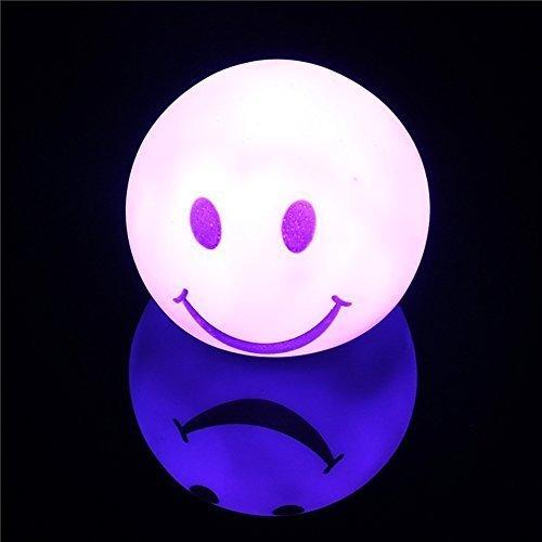 Nachtlicht LED Smiling Face Baby Raum Kids verschiedene Farben Sleep Nachtlicht Up Spielzeug 5,8cm (Taylor-swift-kostüm)