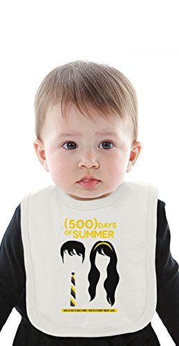500 days of summer Organic Baby Bib With Ties Medium
