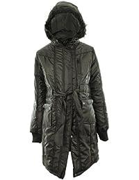 Montana Plus Size New Womens Quilted Parka Furs Fur Trim Hood Ladies Jacket Coat 14 - 26