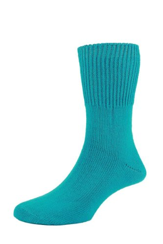 HJ Hall hj2413 Super Soft Sanitized Bedsocks/UK Größen 4 bis 13 (1 Paar) Gr. Medium, Türkis - Türkis