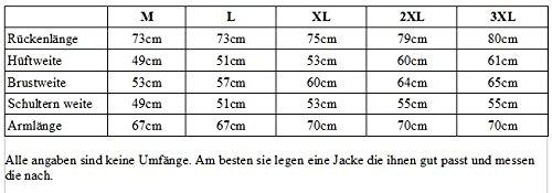 Motorrad Lederjacke aus robustem Rindleder (L) - 4