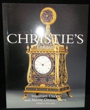 Christie\'s London Important Clocks & Marine Chronometers - Auction Catalog 6 JUL 2001