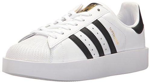 adidas Originals Women's Superstar Bold W Sneaker, White/Black/Metallic Gold, 11 Medium US