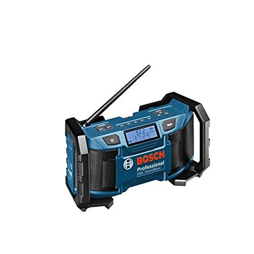 Preisvergleich Produktbild Bosch Professional Akku-Baustellenradio GML SoundBoxx (für 14,4 V-18 V Akkubetrieb, Aux-In (3,5 mm), ohne Akku, Netz-Adapter, Karton) schwarz/blau, 0601429900