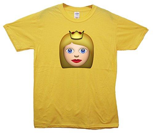 Queen Emoji T-Shirt Gelb