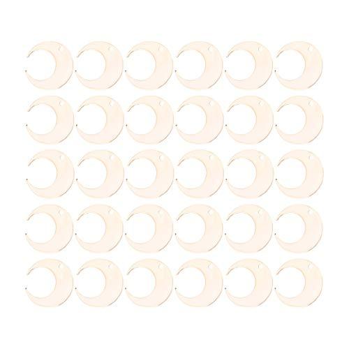 SUPVOX 30 stücke Schmuckherstellung Charms Mond Anhänger Charms für Armband Ohrringe Schmuckherstellung (Gold)