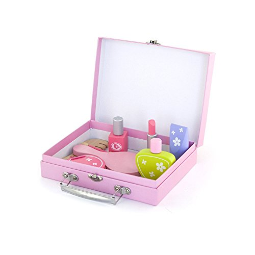 Viga Wooden Beauty Case Playset - Girls Pretend Play Cosmetic Set