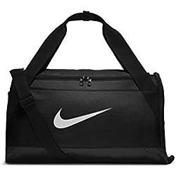 Nike Nk Brsla S Duff Bolsa de Deporte, Hombre, Negro (Black / Black / White), Talla Única