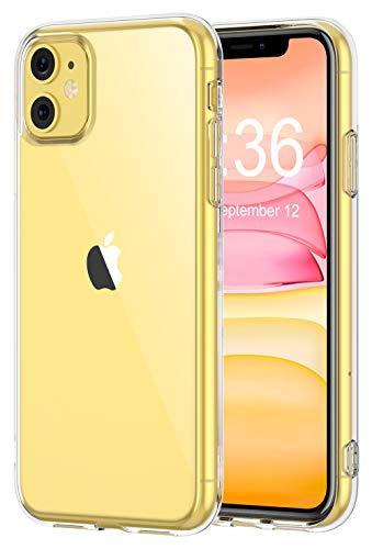 Bovon Funda para iPhone 11, Carcasa Transparente Ultrafina para iPhone 11, Protección Anti Choques y Caídas, Suave Silicona de TFU, 6.1 Pulgadas Funda Anti Arañazos Compatible con iPhone 11 (2019)