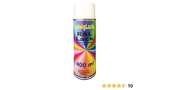 1 Spraydose 400ml Autolack Glänzend Ral 9010 Reinweiss Auto