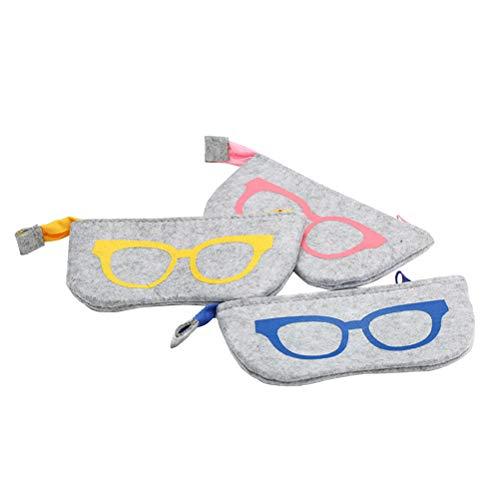 VORCOOL 3pcs tragbare Sonnenbrillen Brillen Taschen Soft Protector Reißverschluss Beutel Cases