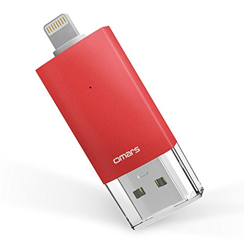 OMARS® Irisation iPhone USB Stick 128GB Speichererweiterung für iPhone iPod iPad Computer Mac Laptop PC [MFi Zertifiziert]