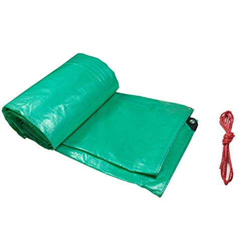 Verdicken Sie regendichtes Tuch im Freien wasserdichtes Lichtschutzplanen-Plastiktuch-Schatten-Tuch-Dreirad-LKW, der den Regen bedeckt LIUDINGDING (Color : Green, Size : 10x10m)