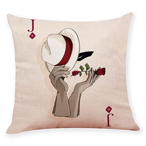 XMoments künstlerisches Design Gestickte Vintage Kissen für deko Cover Set Baumwolle leinen Square Home dekorative dekokissen Fall Sofa Taille Kissenbezug künstlerisches -