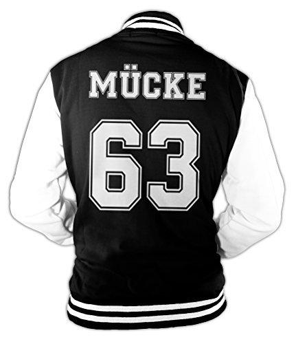 Monkey Print Herren College Jacke Mücke Buddy Movie Star Film, 63 Baseballjacke