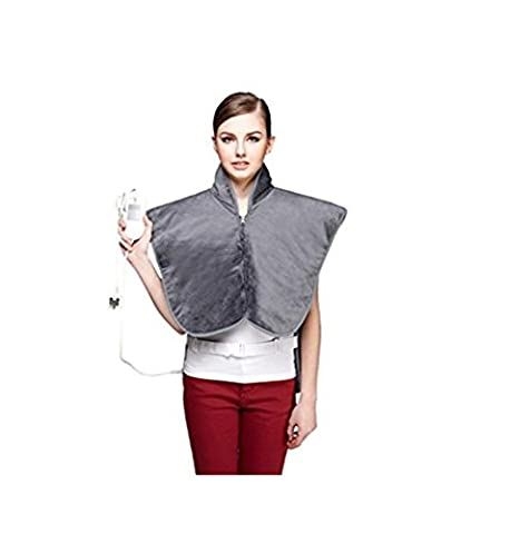 HHORD Electric Heating Vest, Physiotherapy Far Infrared Magnetic Beads 3 Temperatures, Full Machine Washable - Gray -Heat Pads For Back Pain, Heat Therapy Wrap To Relieve Body