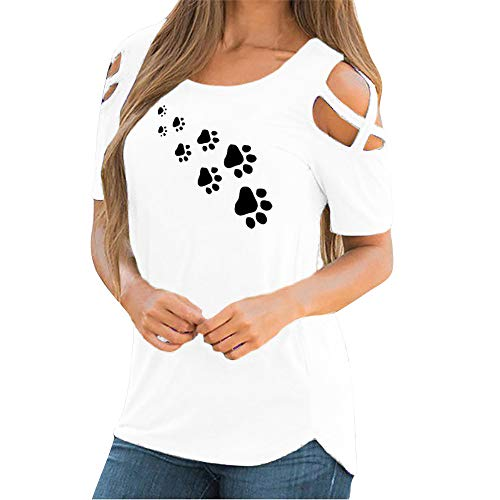 Bluse Damen Kurzarm Schulterfrei Oberteil Damen Off Shoulder Top Sommer Carmen Shirt Blumenmuster - Seide Bauer Bluse