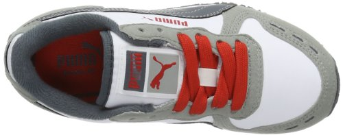 Puma Cabana Racer Sl Jr, Peu mixte enfant Multicolore - Mehrfarbig (limestone gray-white-turbulence-high risk red 24)
