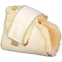 Patuco antiescaras Lambskin   Producto Premium   Máxima suavidad   Fabricado con piel de merino australiano   pie izquierdo