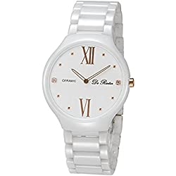 prime day deals 30m Waterproof Ultra-thin Ceramic Watches Minimalist Fashion Lovers Series Watches (for women, White)