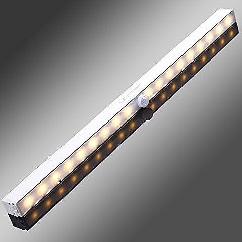 18LED – Lichtleiste, LOFTer 3 Licht Modus,mittels USB Kabel geladen werden, mit Schrauben installieren, Nachtlichter mit Bewegungsmelder, automatischer Schranklicht( Warmweiß)