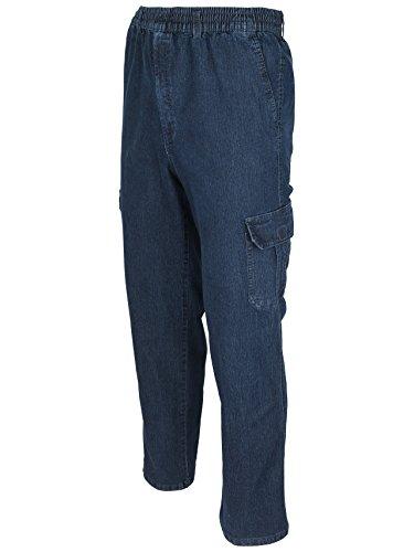 SOUNON Herren Jeans, Cargojeans, Schlupfhose Schlupfjeans, Stretchjeans Dunkelblau, Groesse: 2XL