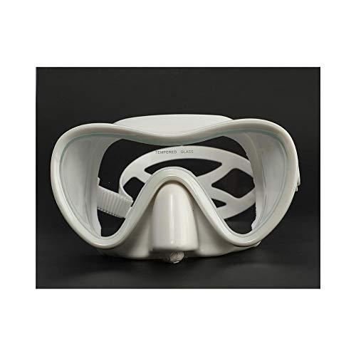 HOTARUYiZi Schwimmbrille Silikon Brille Brille große Rahmen Anti-Fog Ausrüstung for Erwachsene Tauchermaske Schnorchel Schwimmen Maske Schwimmen (Color : White 3)