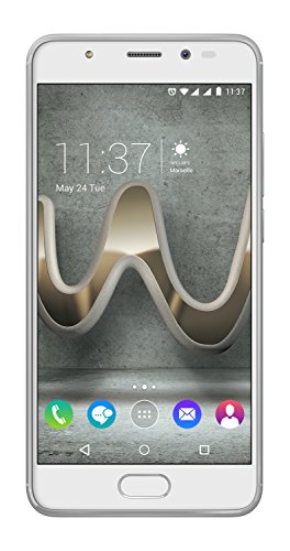 Wiko U Feel Prime Smartphone (12,7 cm (5 Zoll) Full HD IPS-Display, Fingerabdruck-Sensor, 32GB interner Speicher, Android 6 Marshmallow) silber