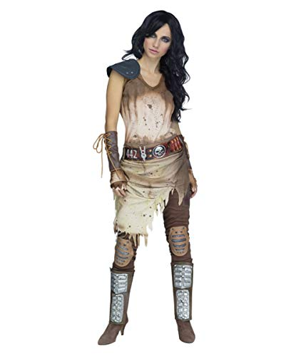 Damen Kostüm Warrior - Horror-Shop Zombie Warrior Apokalypse Krieger Kostüm für Damen SM