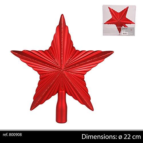 Urban déco Cimier en Forme d'étoile pailletée, Rouge