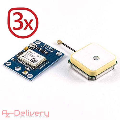 AZDelivery ⭐⭐⭐⭐⭐ SIM 900 GPRS/GSM Shield + GPS moduli + SIM 808 + ETHERNET Shield con gratis eBook 3x GPS Modul