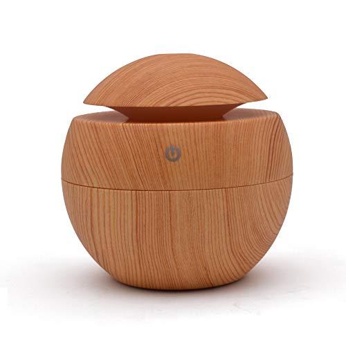 ZWNSWD USB Grano de Madera Aceite Esencial Maquina de Aromaterapia Humidificador Aire Aceite de Aromaterapia...
