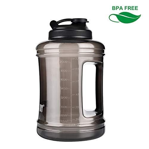 BOTTLED JOY Trinkflasche Sport BPA Frei - 2.5L Sportflasche Water Jug - Fitness Trinkflasche Auslaufsicher mit Tragegriff - Ideal für Gym Diät Bodybuilding Outdoor -
