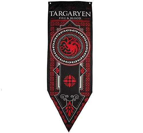 "FengHuiSport [18""X 59"" Juego de Tronos Casa Banner y Bandera 3pk | Casa Stark | Targaryen | Lannister | Party Home Bar Decoración de Regalo"