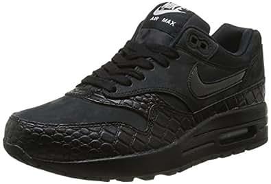 Nike Air Max 1 Prm, Chaussures de running femme, Multicolore (Black/Black Mtllc Silver), 42
