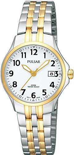 Pulsar Uhren Damen-Armbanduhr XS Klassik Analog Quarz Edelstahl beschichtet PH7222X1