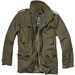 Brandit, M65 Field Jacket per Uomo Classic, Oliva XXL