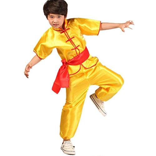 Aiweijia Kinder Kampfkunst Kostüme Jungen und Mädchen üben Kleidung Tai Chi Kungfu Performance - Kostüm Der Verschiedenen Staaten