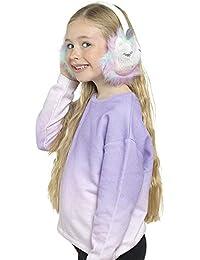 RJM Orejeras de unicornio de piel sintética multicolor para niñas