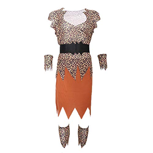 en Höhlenmensch Kostüm Höhlenfrau Verkleidung mit Beinstulpen - B-Male ()