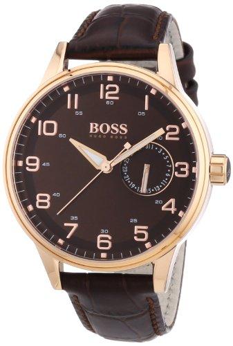 Hugo Boss 1502313 - Reloj analógico de cuarzo para mujer con correa de piel, color marrón