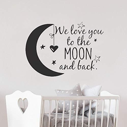 Mond und zurück Wandtattoo Kinderzimmer Zitate Mond und Sterne Wandaufkleber Kinderzimmer Dekor Ideen Kinderzimmer ()