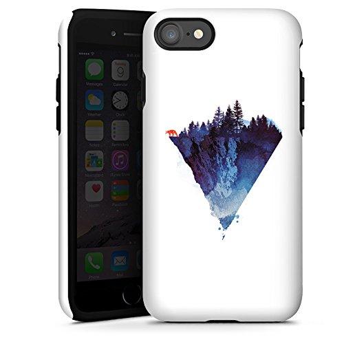 Apple iPhone X Silikon Hülle Case Schutzhülle Dreieck Natur Kunst Tough Case glänzend