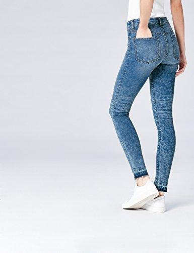 FIND Damen Jeans Ripped Blau Detail Jeans Blau (Light Indigo)