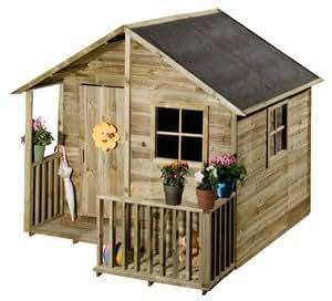 maisonnette chalet cabane en bois pour enfant jardin