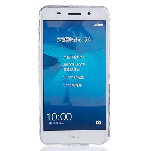 WYSTORE pour Huawei Honor 5A/Y6 II/Y6 2 Vogue Gel Housse étui de téléphone mobile ,TPU Silicone Matériau Transparente Ultra Mince Supérieur Semi Transparent Doux Coque pour Huawei Honor 5A/Y6 II/Y6 2  A06