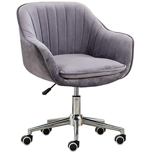 Anac Home-Office-Stuhl mit hoher Rückenlehne, modernes Design Schreibtisch-Arbeitsstuhl mit Armen im Arbeitszimmer (Color : Gray)