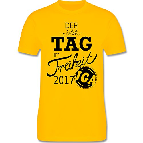 JGA Junggesellenabschied - Der letzte Tag in Freiheit 2017 - Herren Premium T-Shirt Gelb